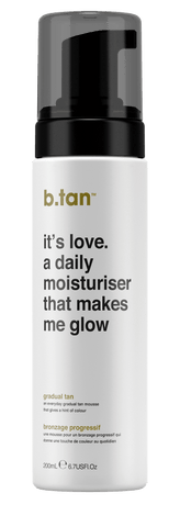 b.tan Gradual Tan It's Love A Daily Moisturiser That Makes Me Glow Everyday Glow Mousse 200ml