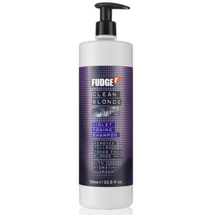 Fudge Clean Blonde Violet Toning Shampoo 1000ml (Old Packaging)