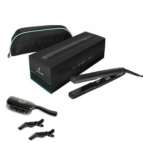 Cloud Nine The Original Iron Hair Straightener + Bonus Case,  Paddle Brush and Clips