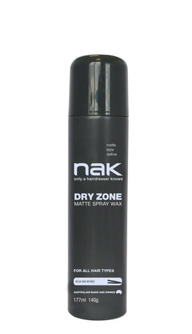 Nak Dry Zone Matte Spray Wax 177ml