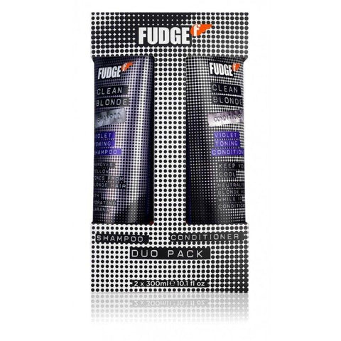 Fudge Clean Blonde Violet Toning Shampoo and Conditioner 300ml Duo Pack - 27.95