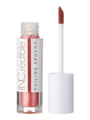 INC.redible Foiling Around Metallic Lip Paint Kissing Strangers - Pinky Rose Gold 3.40g
