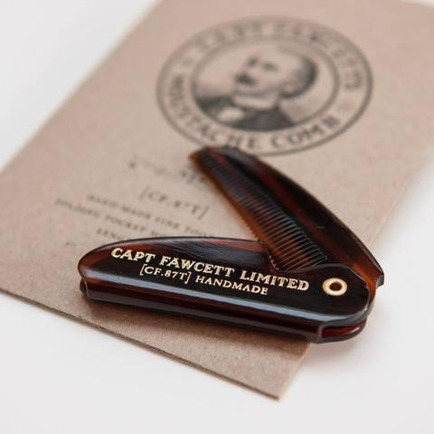 Captain Fawcett's Folding Pocket Moustache Comb - 12
