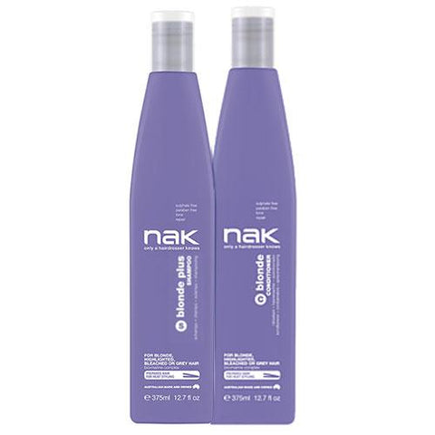 Nak Blonde Plus Shampoo and Conditioner 375ml Duo Pack