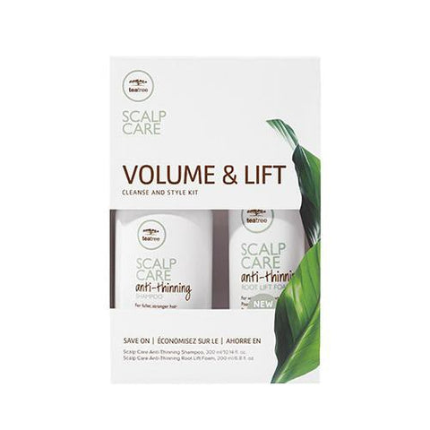 Paul Mitchell Tea Tree Scalp Care Volume & Lift Cleanse and Style Kit