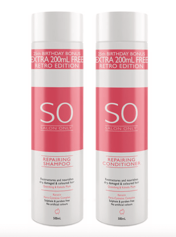 Salon Only Repairing Shampoo and Conditioner 500ml Duo Pack