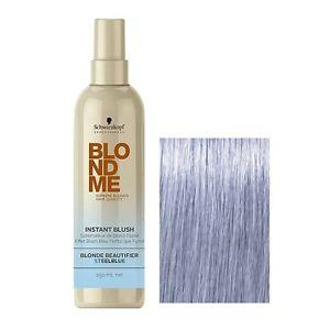 Schwarzkopf BLONDME Instant Blush Temporary Hair Colour- Steel Blue 250ml