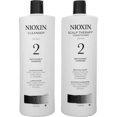 Nioxin System 2 Cleanser Shampoo and Scalp Therapy Conditioner 1000ml Duo Pack