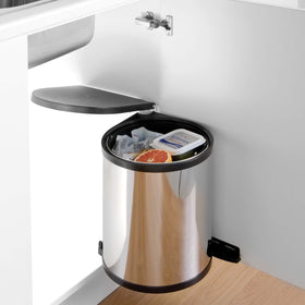Classic Round Waste Bin 13L Stainless Steel