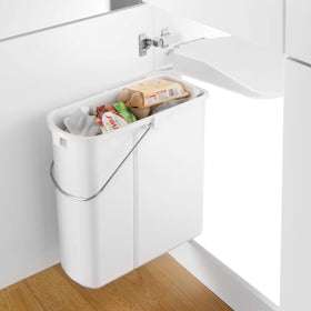 Slim-Line Waste Bin 19L Cream - White