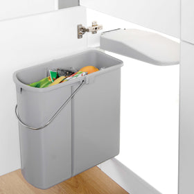 Slim-Line Waste Bin 19L Grey