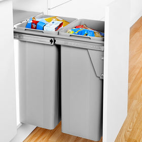 Bio-Double Door Mounted Pull-out Waste Bin 64L (2 x 32L)