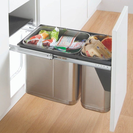 Master Stainless Steel 30L - Door Mounted Waste Bin