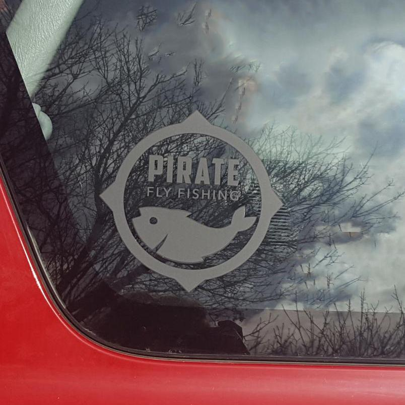 Pirate Fly Fishing decal