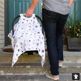 Infant Car Seat Canopy - Night