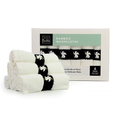 Bamboo Washcloths - 6 Pack