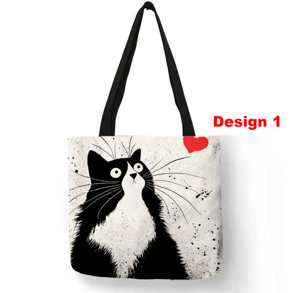 Unique Cat Tote Bag - Meowaish