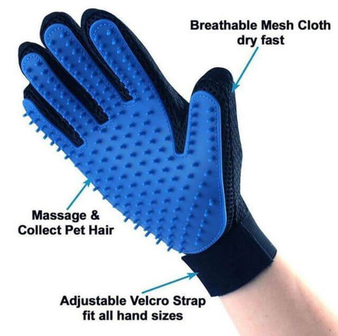 Pet Deshedding Brush Glove [Great for Cats/Dogs - FREE Shipping Worldwide Today] - Meowaish