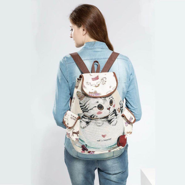 CAT DRAWSTRING BACKPACK [FREE SHIPPING TODAY] GET ALL 3 for Only $59.95! - Meowaish