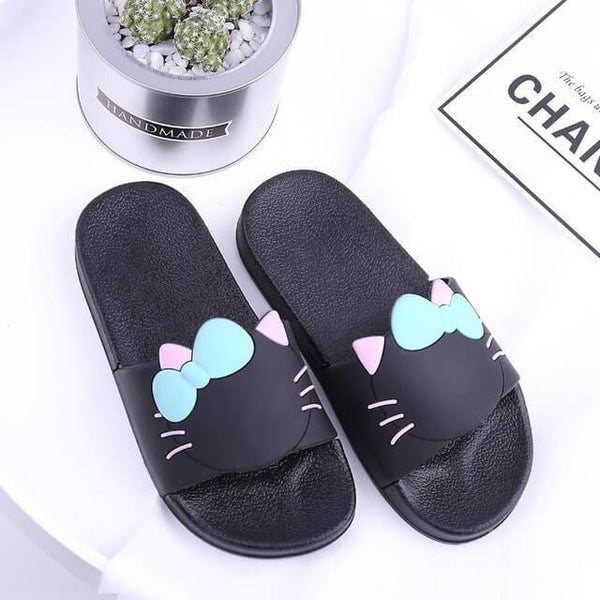 Cute Cozy Cat Paw Summer Slippers - Meowaish