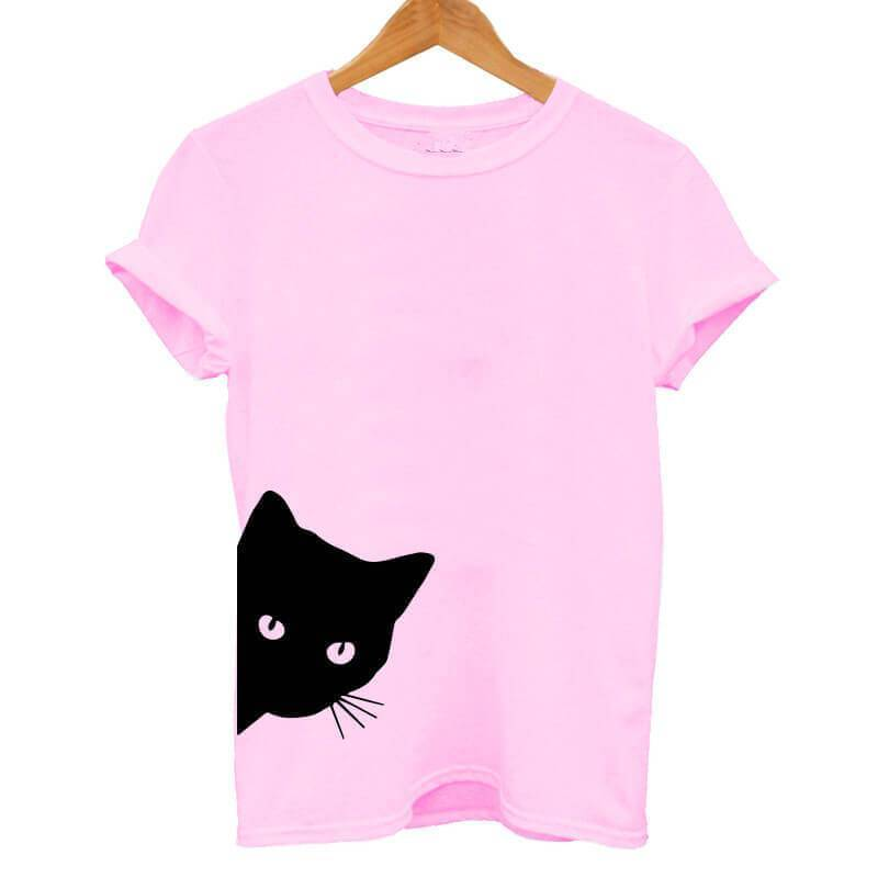 Pink Cat T-Shirt - Meowaish