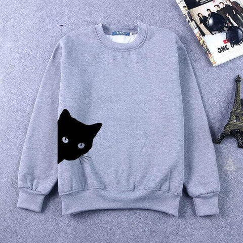 Cat Looking Sweatshirt - Meowaish