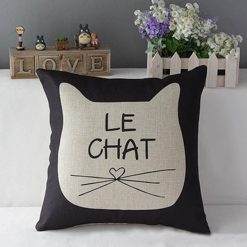 Le Chat Meow Pillow - Meowaish