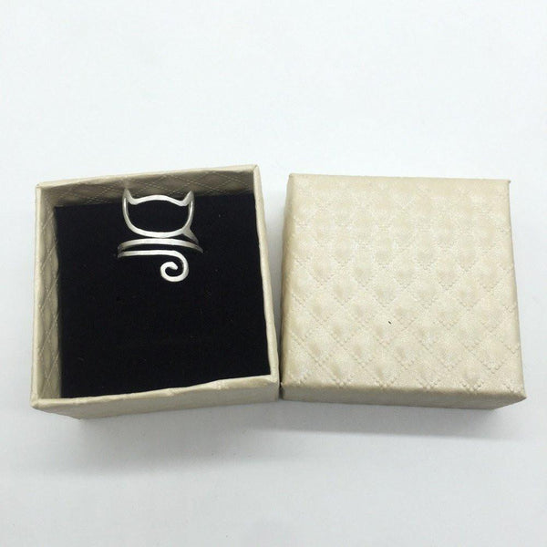 Fashion Cat Adjustable Wrap Ring - Meowaish