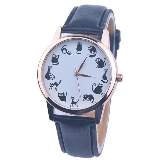 Cat Leather wrist watch[CLEARANCE SALE] - Meowaish