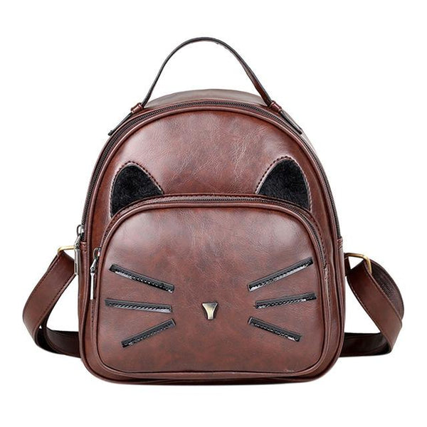 Cat Leather Backpack - Meowaish