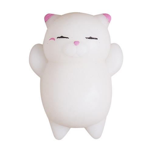 White Squishy Face Cat : Squishy Cat Stress Reliever [FREE SHIPPING] ? Meowaish