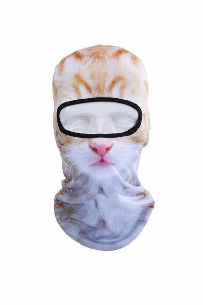 3D Cat Winter Outdoor Mask - Meowaish