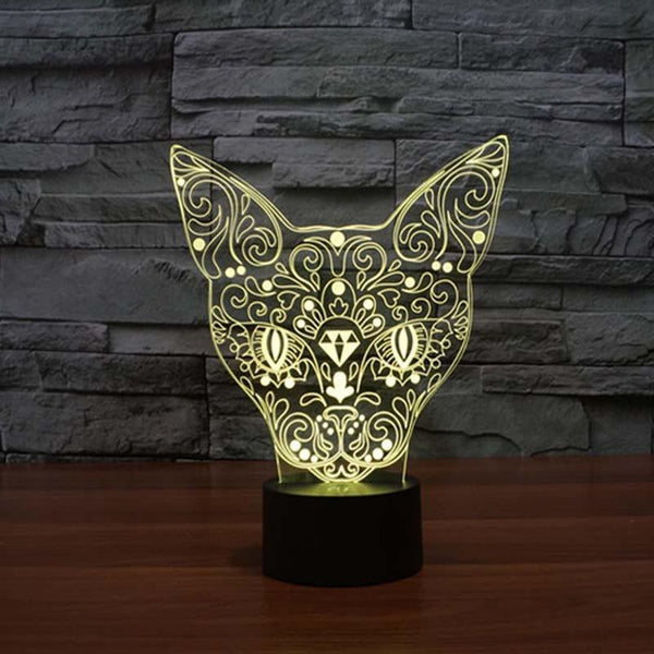 3D Color Cat Changing Night Light Indoor LED - Meowaish