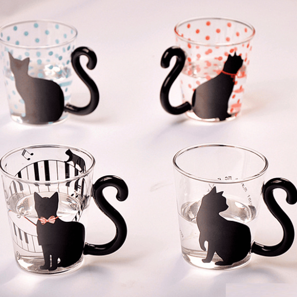 Cute Cat Glass Mug[GET ALL4  $69.95 TODAY] - Meowaish