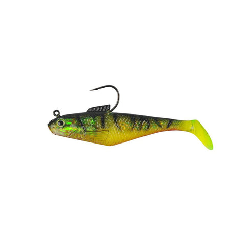 "Berkley Fishing Default Title PowerBait Swim Shad Soft Bait - 4"" Length, Fire Tiger, Per 3"