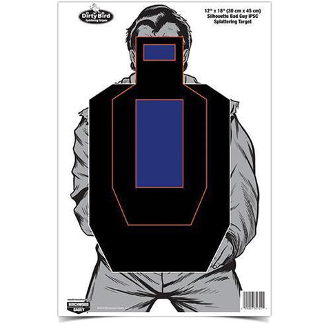 "Dirty Bird Silhouette Target - 12"" x 18"", Bad Guy, IPSC (Per 100) - Scope Headquarters"