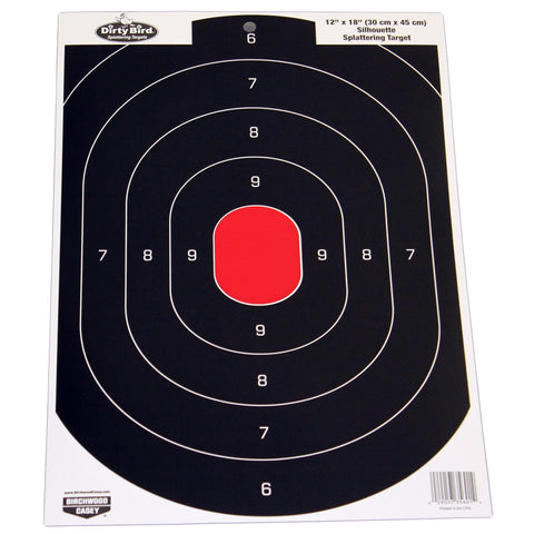"Dirty Bird Silhouette Target - 12""x18"", (Per 100) - Scope Headquarters"