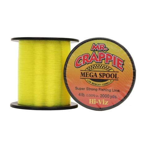 Lews Fishing Fishing Default Title Mr. Crappie Mega Spools - HiVis, 4 lb