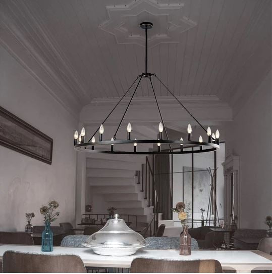 There's no better way to greet your guests at the door with a grand statement than by a beautifully lit chandelier