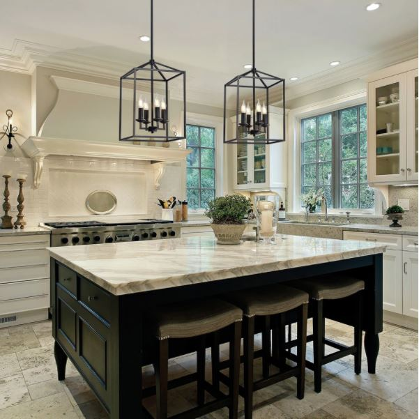 Installing a chandelier above your kitchen island is definitely going to be a statement piece to your modern kitchen