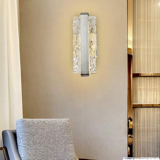 having a single wall light centered over a space is sufficient to light up most spaces