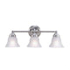 "Leon 23 3/5"" Wide  3-Light Brushed Nickel Vanity Light"