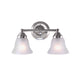 "Poleis 15 9/10"" Wide 2-Light Brushed Nickel Vanity Light"