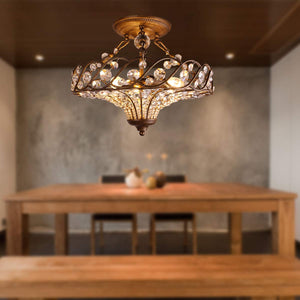 Antique Brass Crystal Ceiling Light Pendant Light Drop Light