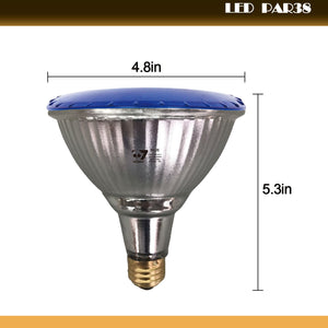 Outdoor 14W LED Par38 Flood Light Bulb, Blue Light