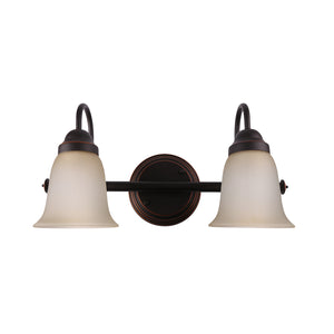 "Poleis 15 9/10"" Wide 2-Light Oil Rubbed Bronze Vanity Light"