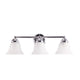 "Leon 23 3/5"" Wide Polished Chrome 3-Light Bathroom Vanity Light"