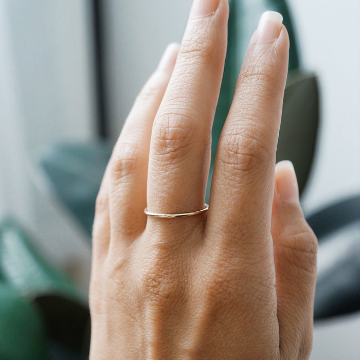 Dainty Stacking Ring - 14K Gold Fill or Sterling Silver, 6.5-6.75 - Lava Essential Oils