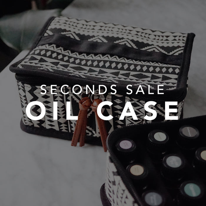 SECONDS SALE • Boho Carrying Case for Essential Oils 30+ bottles 5ml-15ml