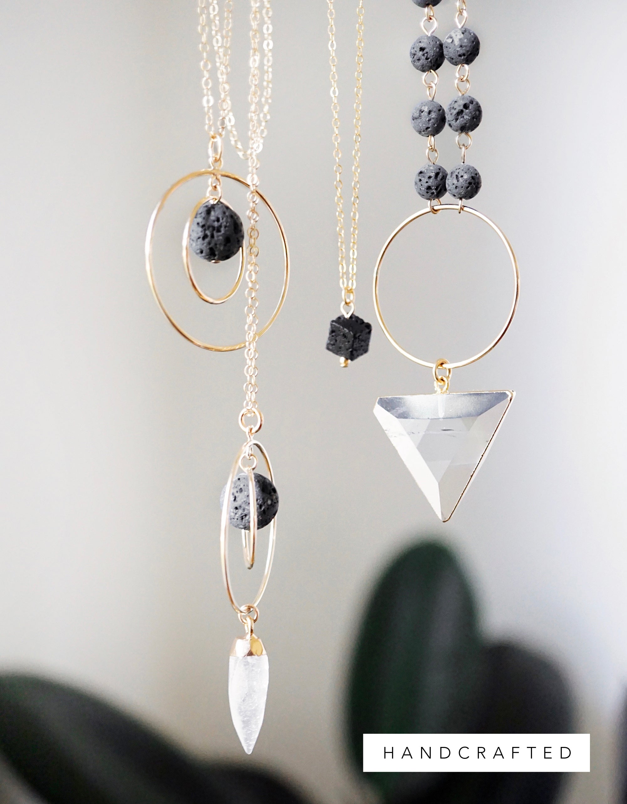 The Orbit - Aromatherapy Lava Necklace [G]+[S] - Lava Essential Oils